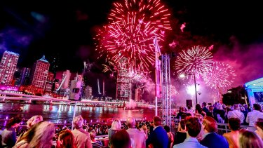 The Riverfire fireworks are back this year, after being replaced by a laser and light show last year.
