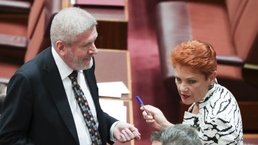Communications Minister Mitch Fifield has yielded to some of Pauline Nation's demands on the ABC.