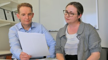 QIMR researchers Emily Hielscher (right) and Professor James Scott have found a strong link between auditory hallucinations and psychological distress and an increased risk of attempting suicide in young people