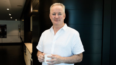 Outgoing Nine chief executive Hugh Marks.