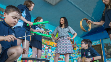 Students get creative at Footscray City Primary School.