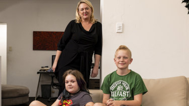 Nicole Graham has decided to keep her children Charley and Archer home from school because of the coronavirus outbreak.