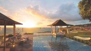 An artist's impression of the proposed Clam Bay Villa as part of the Great Keppel Island redevelopment.
