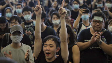 Hong Kong protesters on the streets against controversial extradition laws. Growing numbers want to leave the territory.