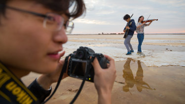Chinese tourists have been flocking to Sea Lake.