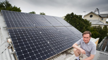 Richard Keech has made substantial energy efficiency upgrades to his home.