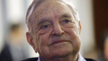 Liberal philanthropist George Soros.