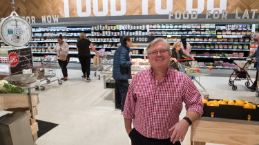 Coles managing director Steven Cain. says customers will have to pay more for buying online.