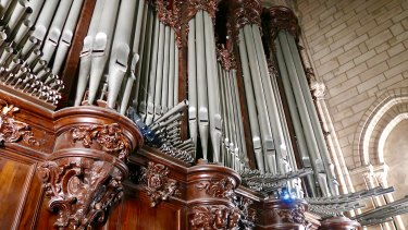 The Notre-Dame organ pipes.