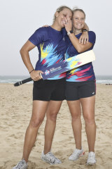 Shore thing: Ash Gardner and Alyssa Healy are confident of success ahead of the T20 World Cup.
