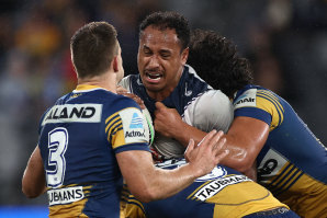 Felise Kaufusi did not receive his marching orders against the Eels.