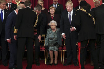 British Prime Minister Boris Johnson, pictured with the Queen, was keen to emphasise the solidarity of the alliance.