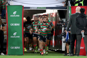 The skipper leads Souths into action at GIO Stadium on Thursday night.