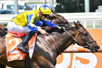 How Womantic races to victory in the Kevin Hayes Stakes.
