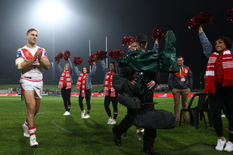 De Belin's return to NRL in June elicited  a standing ovation from fans.