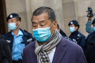 Jimmy Lai pictured leaving a court in December last year.