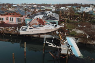 The Abaco Beach Resort in Marsh Harbor was wrecked by the hurricane.
