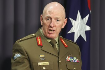 COVID-19 taskforce commander Lieutenant General John Frewen.