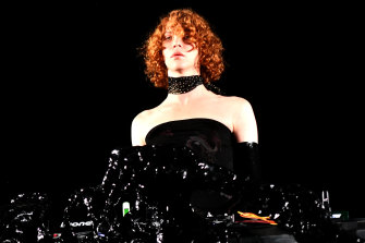 Musician Sophie performs onstage during Coachella in 2019.