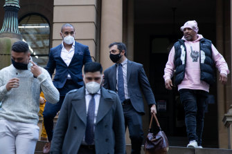 A detention application was withdrawn on Thursday and Jamil Hopoate (top left) walked from court.