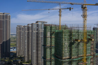 Construction has been halted at many of Evergrande's developments.