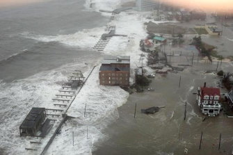 Before Sandy had even hit, the ocean was surging into the suburbs of Atlantic City, New Jersey.