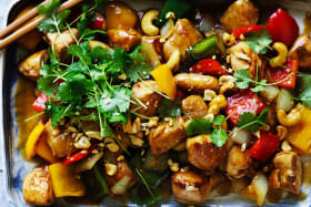 Adam Liaw's Chinese chicken with cashew nuts