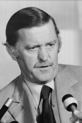 Jim Killen, then minister for defence, in 1977.