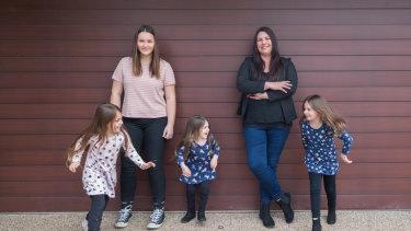 Michelle Cordova and children Abbey, Indiana, Maddison and Chloe.