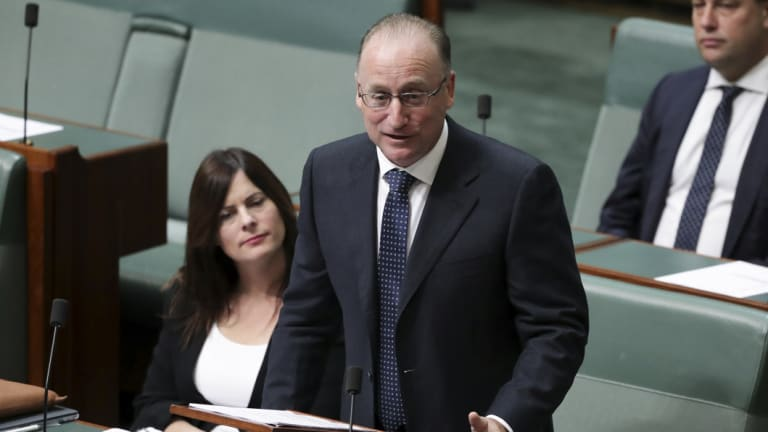 Liberal MP Steve Irons during debate on the National Redress Scheme for Institutional Child Sexual Abuse Bill 2018, in the House of Representatives at Parliament House.