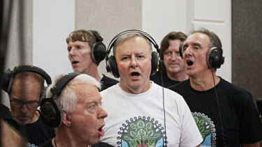 Opposition leader, DJ and now singer for a local charity ... Anthony Albanese