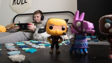 Fortnite fanatic: Patrick Daly is one of millions of kids who are obsessed with the video game.