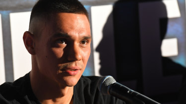 Time to step up: IBF contender Tim Tszyu in Sydney on Tuesday.