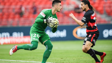 Race against time: Wanderers' goalkeeper Vedran Janjetovic will be given every opportunity to prove he is fit to face Sydney FC.