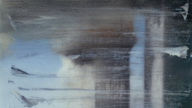 Detail of Gerhard Richter's September (Ed. 139), 2009. Print between glass, 66 x 89.8cm