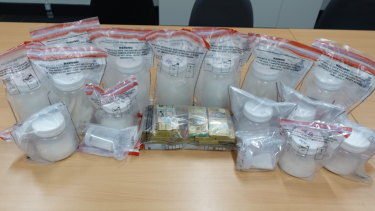 Five kilos of meth was uncovered during the searches.