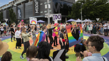 Celebrations one year on after almost two-thirds of voters supported same-sex marriage.