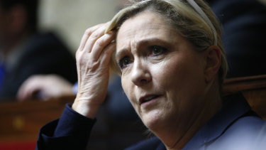 French far-right leader Marine Le Pen.