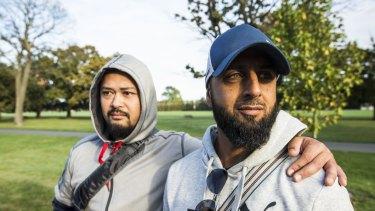 Taufan Mawardi and Ali Armando, Australian Muslim volunteers now in Christchurch.