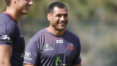 George Smith made a Super Rugby return with the Reds, pictured here during the 2018 season.