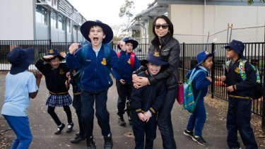 Parramatta East Public is now 80 per cent demountables and more than 500 students are having to spend their lunchtimes lining up to use the 10 available toilets.