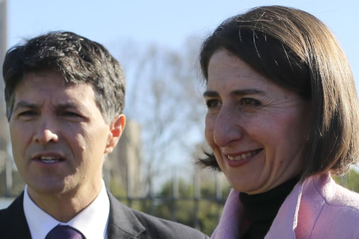 Ryde MP Victor Dominello with Premier Gladys Berejiklian.