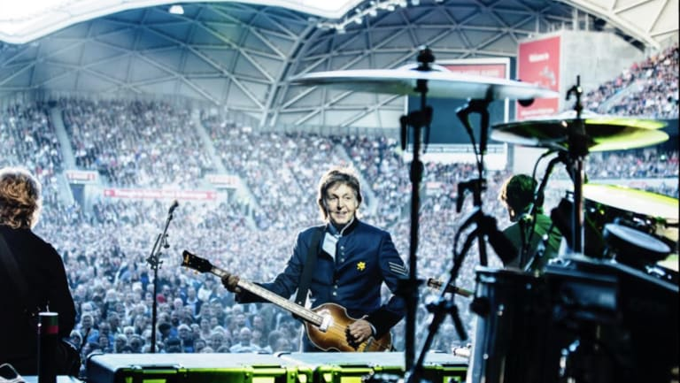 Paul McCartney performs in Melbourne in early December.