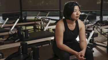 Shirley Sun in her pilates studio.