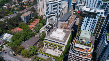 Views across the North Sydney office market with 41 McLaren Street in the foreground