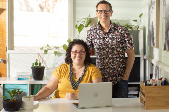 Professional organiser Amy Revell, co-host of the Art Of Decluttering podcast, applied some of her own teachings as husband Cal's extensive book collection began to take over the family room.