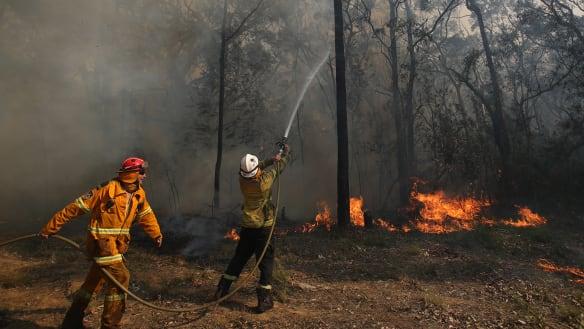 Bushfire threatening homes on NSW south coast to 'burn for days'