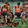 Dawn of new era for Sydney derby as Swans and Giants build bridge over old animosities