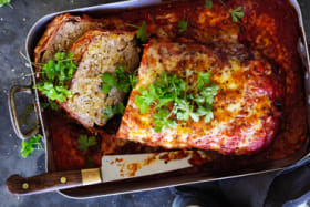 Adam Liaw's parmigiana meatloaf recipe.