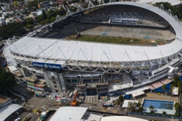 Demolition has commenced at Allianz Stadium.